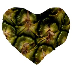 Pineapple Fruit Close Up Macro Large 19  Premium Heart Shape Cushions