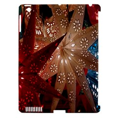 Poinsettia Red Blue White Apple Ipad 3/4 Hardshell Case (compatible With Smart Cover)