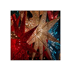 Poinsettia Red Blue White Acrylic Tangram Puzzle (4  X 4 )