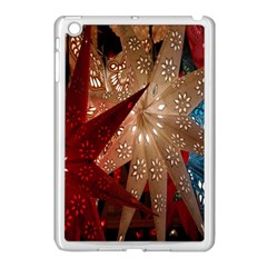 Poinsettia Red Blue White Apple Ipad Mini Case (white)