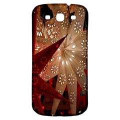 Poinsettia Red Blue White Samsung Galaxy S3 S Iii Classic Hardshell Back Case