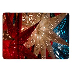 Poinsettia Red Blue White Samsung Galaxy Tab 8 9  P7300 Flip Case