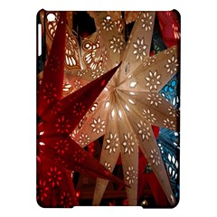 Poinsettia Red Blue White Ipad Air Hardshell Cases by Nexatart