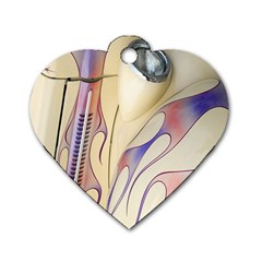 Pin Stripe Car Automobile Vehicle Dog Tag Heart (one Side) by Nexatart