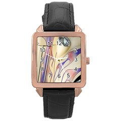 Pin Stripe Car Automobile Vehicle Rose Gold Leather Watch  by Nexatart