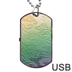 Plants Nature Botanical Botany Dog Tag Usb Flash (one Side)