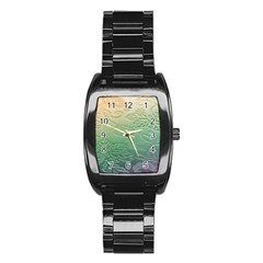 Plants Nature Botanical Botany Stainless Steel Barrel Watch