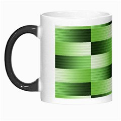 Pinstripes Green Shapes Shades Morph Mugs by Nexatart