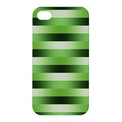 Pinstripes Green Shapes Shades Apple Iphone 4/4s Hardshell Case