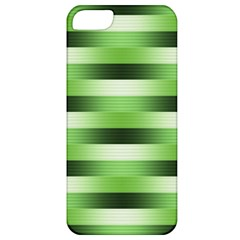 Pinstripes Green Shapes Shades Apple Iphone 5 Classic Hardshell Case