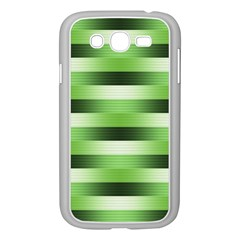 Pinstripes Green Shapes Shades Samsung Galaxy Grand DUOS I9082 Case (White) by Nexatart