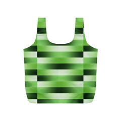 Pinstripes Green Shapes Shades Full Print Recycle Bags (s)