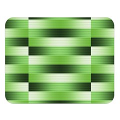 Pinstripes Green Shapes Shades Double Sided Flano Blanket (large)  by Nexatart