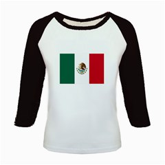 Flag_of_Mexico Kids Baseball Jersey by meppovic