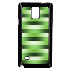 Pinstripes Green Shapes Shades Samsung Galaxy Note 4 Case (black)