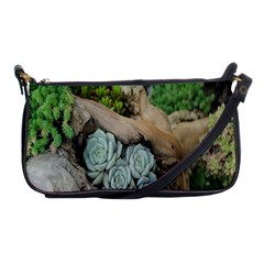 Plant Succulent Plants Flower Wood Shoulder Clutch Bags by Nexatart