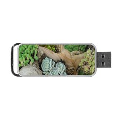 Plant Succulent Plants Flower Wood Portable Usb Flash (one Side) by Nexatart