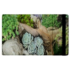 Plant Succulent Plants Flower Wood Apple Ipad 3/4 Flip Case