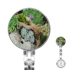 Plant Succulent Plants Flower Wood Stainless Steel Nurses Watch by Nexatart