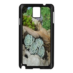 Plant Succulent Plants Flower Wood Samsung Galaxy Note 3 N9005 Case (black)