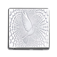 Points Circle Dove Harmony Pattern Memory Card Reader (square) by Nexatart