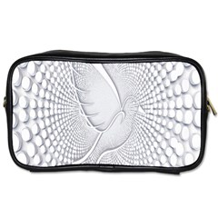 Points Circle Dove Harmony Pattern Toiletries Bags 2 Side by Nexatart