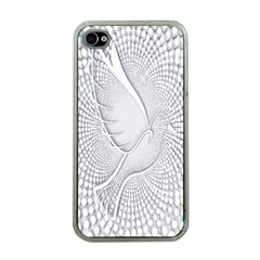 Points Circle Dove Harmony Pattern Apple Iphone 4 Case (clear) by Nexatart