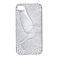 Points Circle Dove Harmony Pattern Apple Iphone 4/4s Hardshell Case With Stand