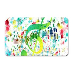 Points Circle Music Pattern Magnet (rectangular) by Nexatart