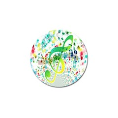 Points Circle Music Pattern Golf Ball Marker