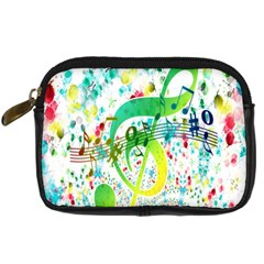 Points Circle Music Pattern Digital Camera Cases