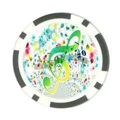 Points Circle Music Pattern Poker Chip Card Guard (10 Pack)