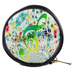 Points Circle Music Pattern Mini Makeup Bags