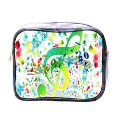 Points Circle Music Pattern Mini Toiletries Bags
