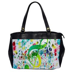 Points Circle Music Pattern Office Handbags