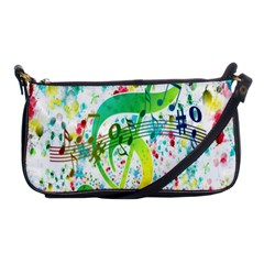 Points Circle Music Pattern Shoulder Clutch Bags by Nexatart