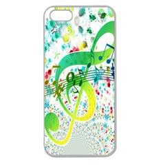 Points Circle Music Pattern Apple Seamless Iphone 5 Case (clear) by Nexatart