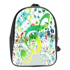 Points Circle Music Pattern School Bags (xl)