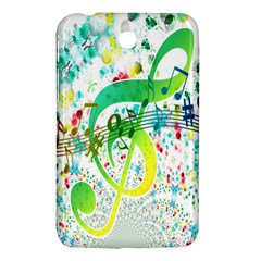 Points Circle Music Pattern Samsung Galaxy Tab 3 (7 ) P3200 Hardshell Case