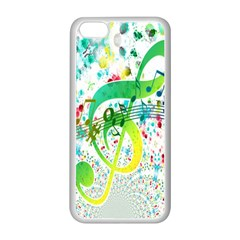 Points Circle Music Pattern Apple Iphone 5c Seamless Case (white) by Nexatart