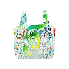 Points Circle Music Pattern Full Print Recycle Bags (s)