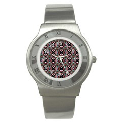 Plot Texture Background Stamping Stainless Steel Watch by Nexatart