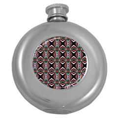 Plot Texture Background Stamping Round Hip Flask (5 Oz) by Nexatart