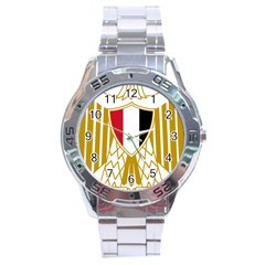 Coat Of Arms Of Egypt Stainless Steel Analogue Watch by abbeyz71