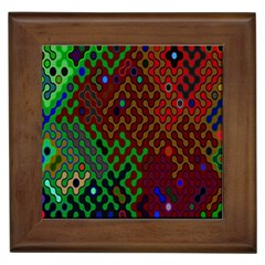 Psychedelic Abstract Swirl Framed Tiles by Nexatart