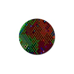Psychedelic Abstract Swirl Golf Ball Marker (10 Pack)