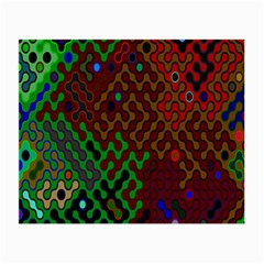 Psychedelic Abstract Swirl Small Glasses Cloth