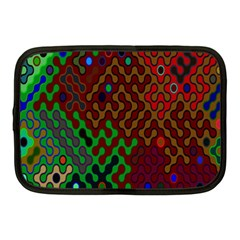 Psychedelic Abstract Swirl Netbook Case (medium)  by Nexatart