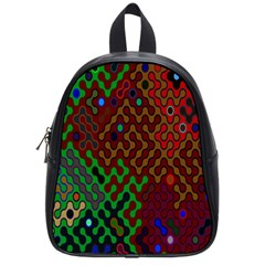 Psychedelic Abstract Swirl School Bags (small)  by Nexatart