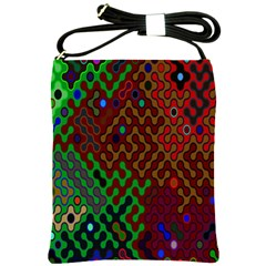 Psychedelic Abstract Swirl Shoulder Sling Bags by Nexatart